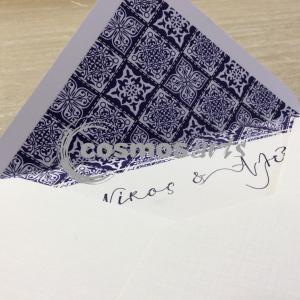 Προσκλητήριο γάμου VINTAGE BOHO - Γ2002 - <p>Προσκλητήριο γάμου με φόδρα στο φάκελο σε vintage boho θέμα.</p>...