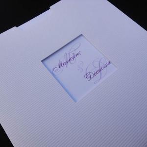 Προσκλητήρια γάμου -Γ1341 - <p>Οικονομικό συρταρωτό προσκλητήριο.</p>...