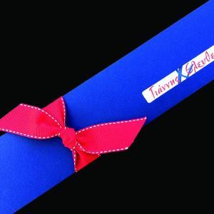 Προσκλητήριο Γάμου -Γ1453 - <p>Μακρόστενο καλοκαιρινό προσκλητήριο από blue navy ακουαρέλα και εντυπωσιακή κόκκινη με γαζί γκρο κορδέλα.</p>...