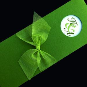 Προσκλητήριο Γάμου -Γ1432 - <p>Συρταρωτό κουμπωτό προσκλητήριο από γκοφρέ λαδί χαρτί και λαδί οργαντίνα.</p>...