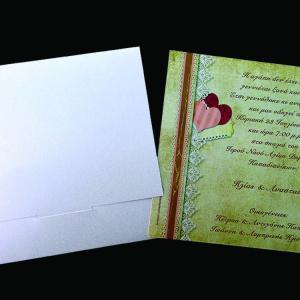 Προσκλητήριο Γάμου -Γ1434 vintage - <p>Ρομαντικό vintage προσκλητήριο σε μεταλιζέ χαρτί της πέρλας!</p>...