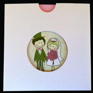 Προσκλητήριο Γάμου -Γ1457 - <p>Τετράγωνο συρταρωτό προσκλητήριο και καρικατούρες ζευγαριού.   Tip: Μπορεί να βγεί και στην οικονομική σειρά!</p>...