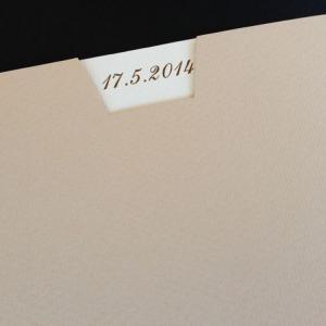 Πολυτελές Προσκλητήριο Γάμου -lux36 - <p>Συρταρωτό προσκλητήριo γάμου 21x21cm. από ματ ραβδωτό χαρτί και κάρτα σε γήινες vintage απόχρώσεις.</p>...