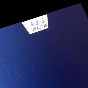 Πολυτελές Προσκλητήριο Γάμου -lux37 - <p>Συρταρωτό προσκλητήριo γάμου 21x21cm. από μπλε σκούρο ραβδωτό χαρτί, λευκή κάρτα ίδιας ποιότητας.</p>...