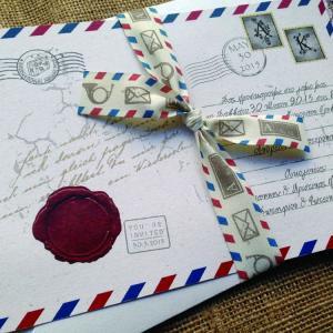 Προσκλητήρια Γάμου Καρτ Ποστάλ -Γ1514 - <p>Ιδιαίτερο προσκλητήριο γάμου carte postale από ανακυκλωμενο χαρτί και δέσιμο μοναδική κορδέλα*.  Tip: Μπορείτε να δημιουργήσετε θεματική ενότητα carte postale με πρόσκληση, μπομπονιέρα, βιβλίο ευχών, ετικέτες κρασιού, χωνάκια κ.ά.  * Τη συγκεκριμένη κορδέλα θα τη βρείτε αποκλειστικά στην εταιρεία μας καθώς επίσης σε συνεργαζόμενα καταστήματα!</p>...