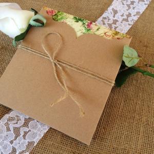 Προσκλητήρια Γάμου Vintage -Γ1539 - <p>Ιδιαίτερο βίνταζ συρταρωτό προσκλητήριο γάμου από οικολογικό χαρτί και δέσιμο από σχοινί.</p>...
