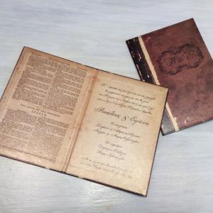 Δίπτυχο Βίνταζ Προσκλητήριο Βιβλίο -48 - <p>Μοναδικό δίπτυχο προσκλητήριο vintage βιβλίο!</p>...