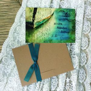 Προσκλητήρια γάμου card postal -Γ1605 - <p>Μοναδικό καλοκαιρινό προσκλητήριο γάμου carte postale, διπλής όψης από οικολογικό χαρτί!</p>...