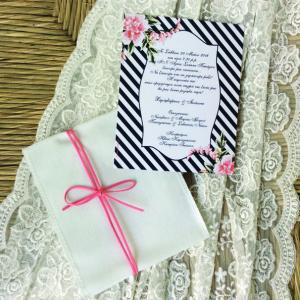 Προσκλητήρια γάμου 2016 -Γ1659 - <p>Rustic προσκλητήριο γάμου με λινό λευκό φάκελο...</p>...