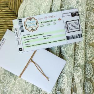 Προσκλητήρια γάμου πρωτότυπα -Γ1660 - <p>Πρωτότυπο προσκλητήριο γάμου εισητήριο...</p>...