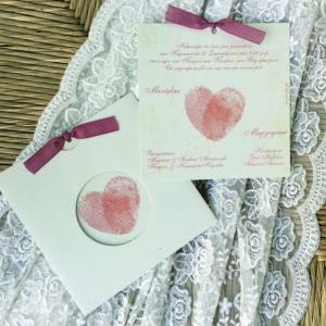 Προσκλητήρια γάμου πρωτότυπα -Γ1664 - <p>Συρταρωτό προσκλητήριο γάμου από οικολογικό χαρτί με θέμα αποτυπώματα σε σάπιο μήλο αποχρώσεις!</p>...