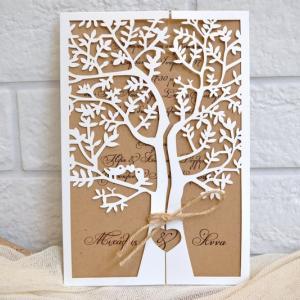 Προσκλητήρια γάμου laser cut -Γ1719 - <p>;To Δέντρο της Ζωής ;. Μοναδικό προσκλητήριο γάμου, τύπου Laser Cut.</p>...