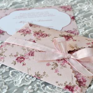Προσκλητήρια γάμου φλοράλ -Γ1715 - <p>Μοναδικό floral προσκλητήριο γάμου με ιδιαίτερο κλείσιμο και δέσιμο!</p>...