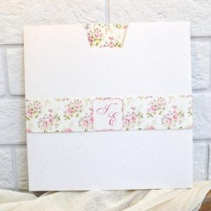 Προσκλητήρια γάμου φλοράλ -Γ1737 - <p>Ιδιαίτερο floral προσκλητήριο γάμου σε ρομαντικό ύφος!</p>...