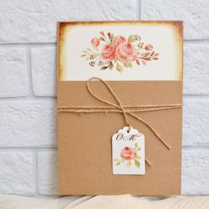 Προσκλητήρια γάμου 2017 -Γ1743 - <p>Συρταρωτό προσκλητήριο γάμου από οικολογικό χαρτί,  δεμένο με κορδέλα λινάτσα και κρεμαστό καρτελάκι με μονογράμματα, για τα ονόματα των καλεσμένων!</p>...
