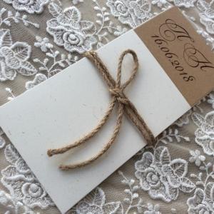 Προσκλητήρια γάμου 2018 -Γ1804 - <p>Συρταρωτό προσκλητήριο γάμου από οικολογικά χαρτιά.</p>...