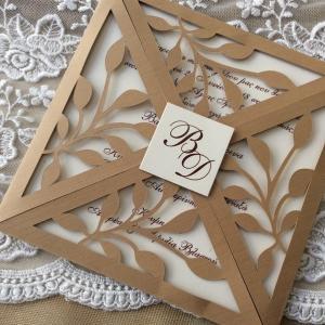 Προσκλητήρια γάμου laser cut -Γ1817 - <p>Προσκλητήριo γάμου laser cut!</p>...