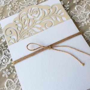 Προσκλητήρια γάμου laser cut -Γ1818 - <p>Προσκλητήριo γάμου με laser cut κάρτα!</p>...