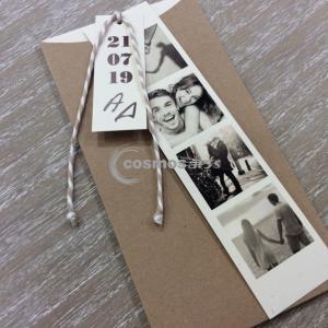Προσκλητήριο γάμου ΣΕΛΙΔΟΔΕΙΤΗΣ - Γ1902 - <p>Προσκλητήριο γάμου σελιδοδείκτης με φωτογραφίες ζευγαριού</p>...