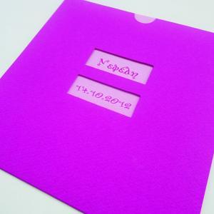 Προσκλητήρια βάπτισης κορίτσι -Β1204 - <p>Συρταρωτός φούξια γκοφρέ φάκελος με δύο παράθυρα και ροζ κάρτα για όμορφη αντίθεση.</p>...