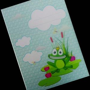 Προσκλητήρια Βάπτισης Δίπτυχα Βιβλία -βατραχάκι - <p>Εντυπωσιακό δίπτυχο προσκλητήριο βιβλιαράκι με θέμα το βατραχάκι.</p>...