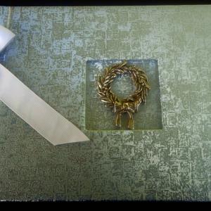 Βιβλίο Ευχών Γάμου -34 - <p>Βιβλίο ευχών γάμου από δερματίνη mosaic silver και ασημί στεφανάκι.</p>...