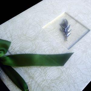 Βιβλίο Ευχών Γάμου -36 - <p>Βιβλίο ευχών γάμου από δερματίνη precious white και ασημί κλαδί ελιάς.</p>...